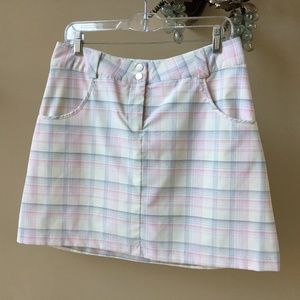Nike Golf Dri-Fit Plaid Skirt Shorts Skorts Size 8